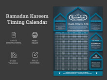 Ramadan Kareem Fasting And Prayer Time Guide, Ramadan Kareem Banner With 3d Metallic Golden Colour Gradient.Ramadan Schedule 2021 For Prayer Times In Ramadan.Ramadan Schedule 2021 For Prayer Times In