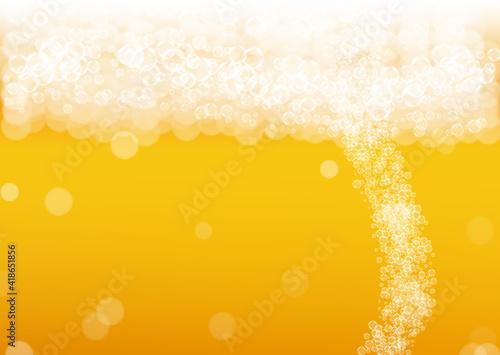 Fotografija Beer foam. Craft lager splash. Oktoberfest background.