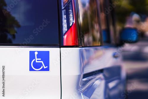 Fotomural 車椅子 マーク 福祉車両 福祉 ウェルフェア