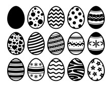Easter Eggs Collection. Vector Icons