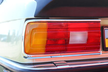 Large Tail Light Of A Retro Car.