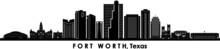 FORT WORTH Texas USA City Skyline Vector