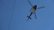 Police Helicopter Flying Overhead Hd