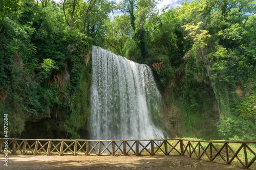 Canvas Print Waterfall at the Monasterio de Piedra, Aragón, Spain