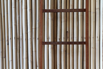 The old bamboo fence texture background.
