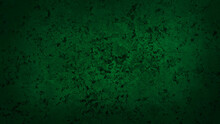 Rough Dark Green Cement Stone Tile Flooring Background. Abstract Green Cement With Stone Slate Pigment Texture Background With Space For Design. Vignette Rustic Stone Background.