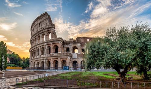 Canvas Colosseum in Rome (Roma), Italy