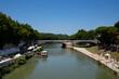 Tyber rzeka Rzym latem