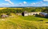Medieval Gora Birow Mountain royal stronghold near Ogrodzieniec Castle, at Cracow-Czestochowa upland in Podzamcze of Silesia region of Poland