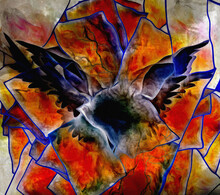 Wings. Abstract Painting