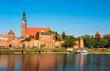 canvas print picture - Die Altstadt von Tangermünde an der Elbe mit Stadtmauer, Elbtor und Kirche St. Stephan