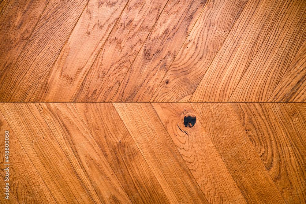 Fototapeta Natural wooden background herringbone, grunge parquet flooring design seamless texture - obraz na płótnie