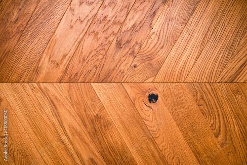 Obraz Natural wooden background herringbone, grunge parquet flooring design seamless texture - fototapety do salonu