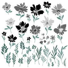 Abstract And Impressive Cute Flower Material,