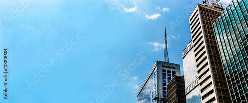 Obraz predios Avenida Paulista com espaço para escrever - fototapety do salonu