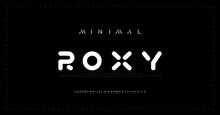 Modern Minimal Alphabet Fonts. Typography Minimalist Urban Digital Fashion Future Creative Logo Font. Vector Illustration