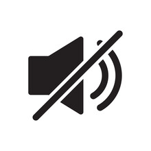 Silent Sound Off Icon Vector For Your Web Design, Logo, UI. Illustration