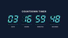 Countdown Timer Digital Clock Illustration