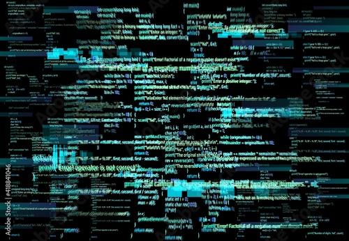 Canvas Programmer screen glitch or software development error background