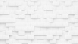 Random shifted  white cube boxes block background wallpaper - 418871054