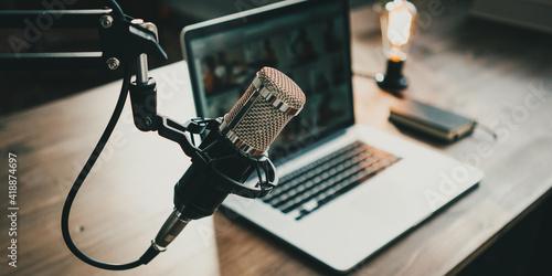 Fotografie, Obraz Home studio podcast interior