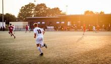 Amateur Fußball Jugend Im Sonntenuntergang
