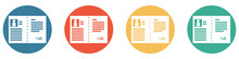 Bunter Banner Mit 4 Buttons: Bewerbung Oder Arbeitsvertrag