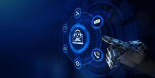 Chat Bot Service Automation Business Technology Concept. Robotic Arm 3d Rendering.