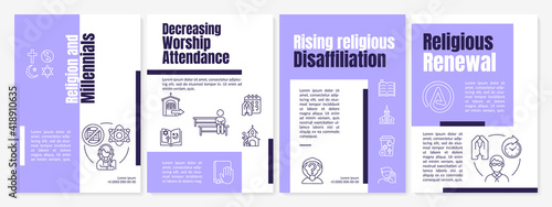 Photo Religion and millennials brochure template