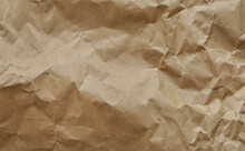 Crumbled Craft Paper Texture Background