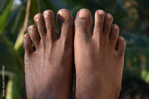 Obraz na płótnie legs of Indian guy. Summer Concept.