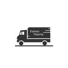 Express Shipping Icon, Can Be Use On Market Place Website, Mobile Application With Vector Illustration Isolated On White Background