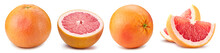 Grapefruit Collection Isolated. Grapefruit Isolated On White