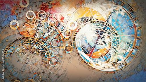 Fényképezés astrological symbol Zodiac in cloud
