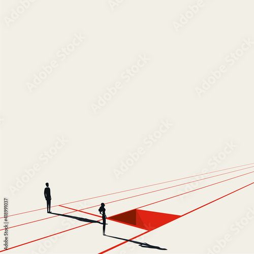 Business discrimination vector concept Poster Mural XXL