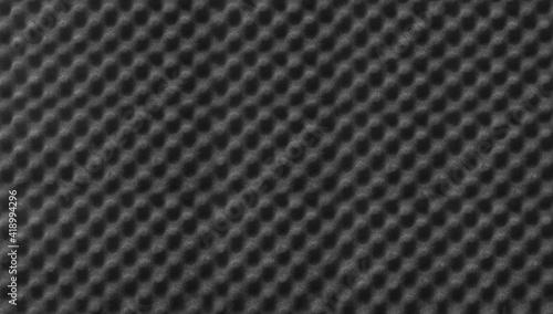 Obraz na plátne Studio sound black acoustic foam background texture