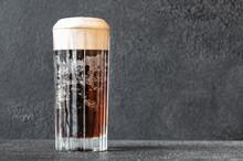 Glass Of Black Velvet Cocktail