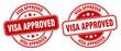 visa approved stamp. visa approved label. round grunge sign