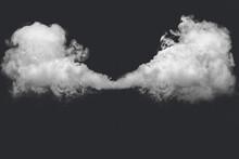 Abstract White Smoke Against Dark Background
