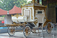 Classic Old Horse Carriage In A Traditional Building