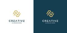 Luxury Letter N Logo Design Vector