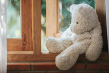 Teddy Bear Sad In An Empty Room, National Child Abuse Prevention Month