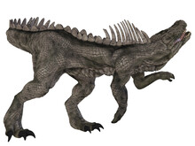 3d Illustration Of An Dangerous Fantasy Monster