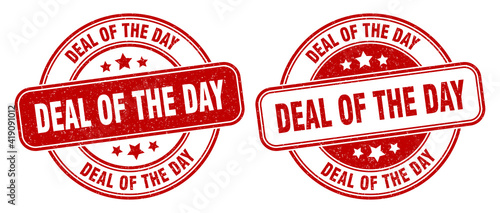 deal of the day stamp. deal of the day label. round grunge sign