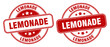lemonade stamp. lemonade label. round grunge sign