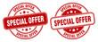 special offer stamp. special offer label. round grunge sign