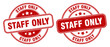 staff only stamp. staff only label. round grunge sign