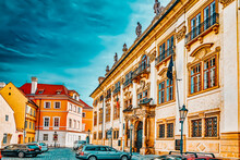 Ministry Of Culture Of The Czech Republic. Quarters And Streets On  Prague's Mala Strana(Lesser Town Of Prague). District Of The City Of Prague, Czech Republic, And One Of Its Most Historic Regions.