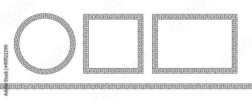 Obraz na płótnie Set greek frame