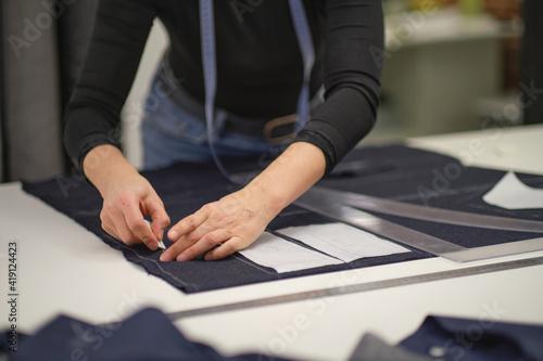 Obraz na plátne seamstress workplace